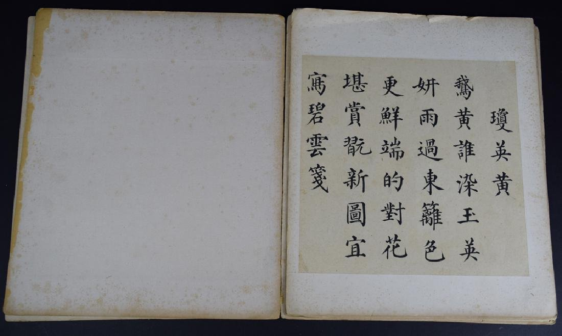 Twenty pages of Chinese calligraphy album of - 7