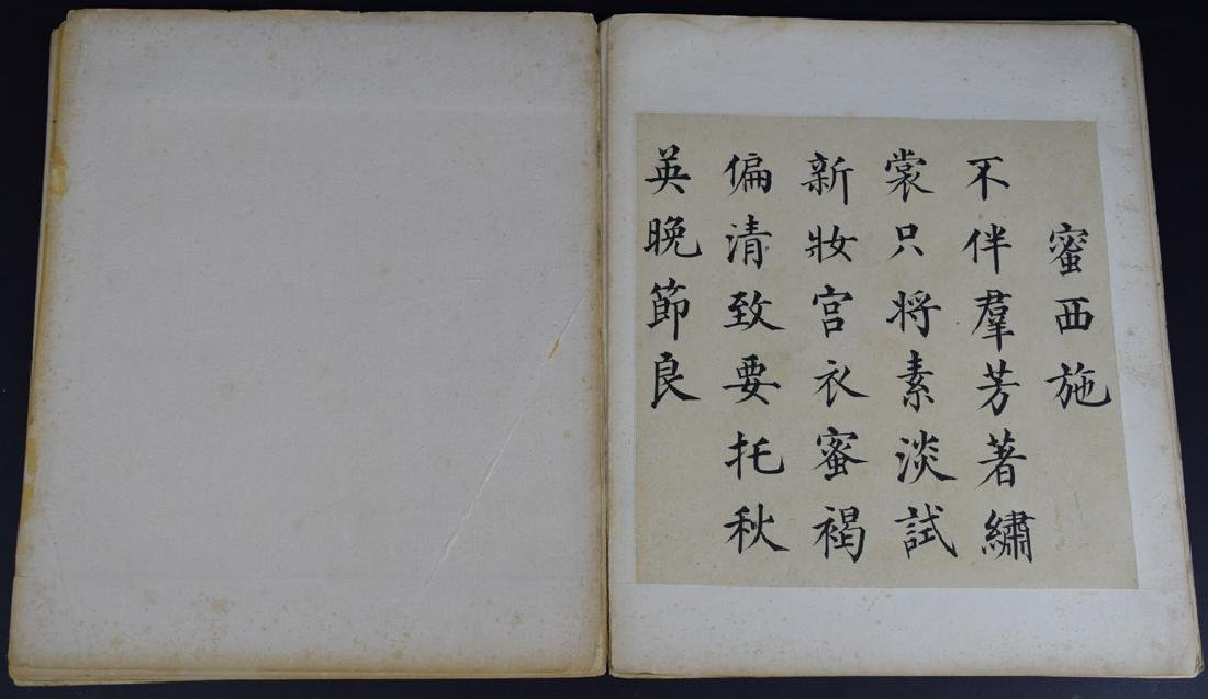 Twenty pages of Chinese calligraphy album of - 9
