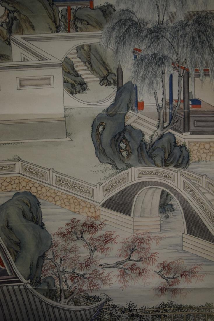 Set of three Chinese Republic watercolor painted - 3