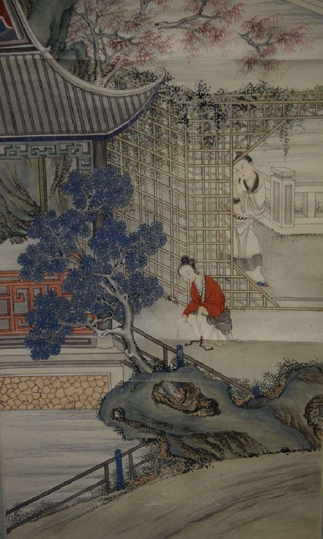 Set of three Chinese Republic watercolor painted - 4