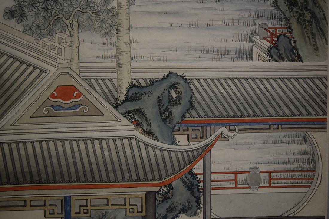 Set of three Chinese Republic watercolor painted - 8
