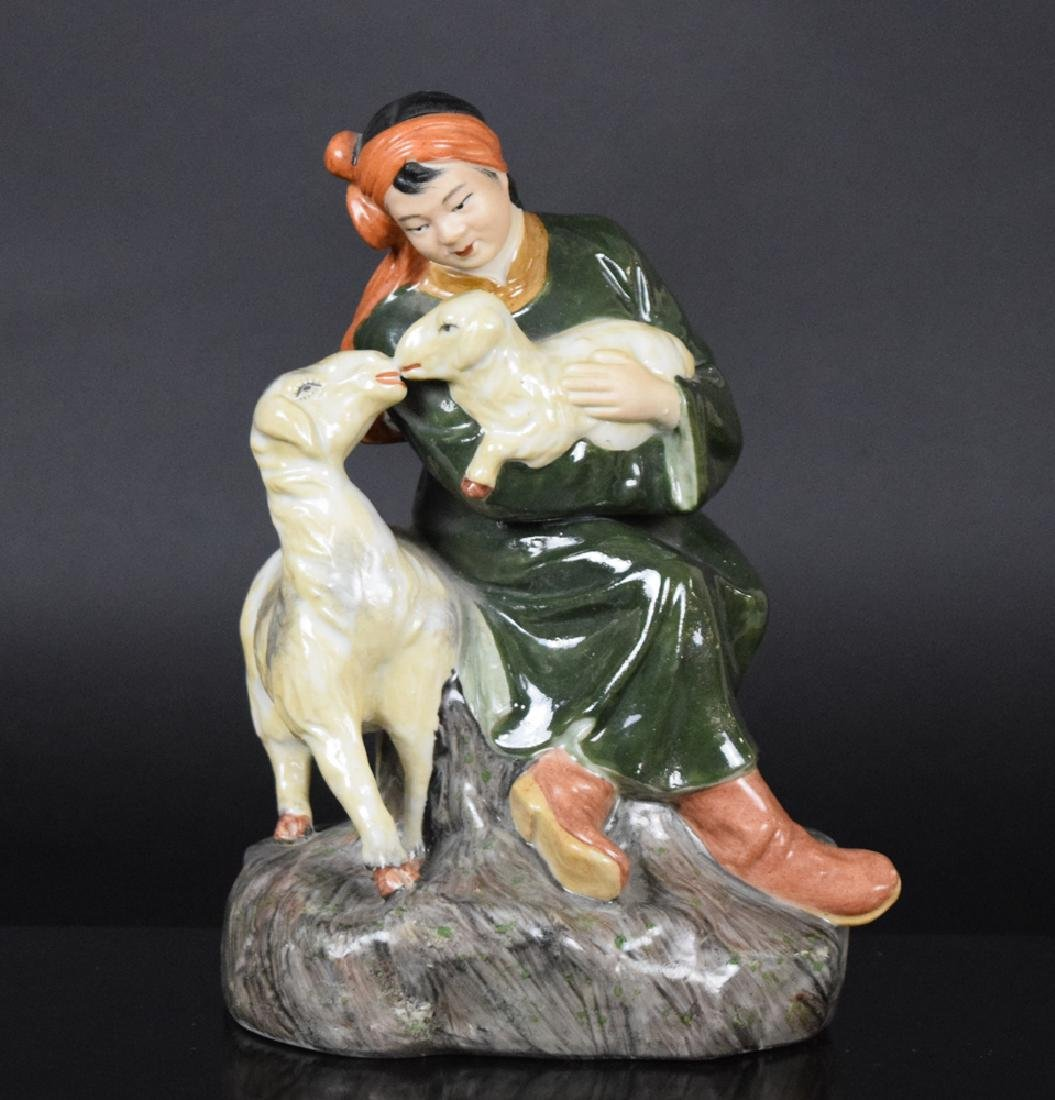 Chinese cultural revolution porcelain figure
