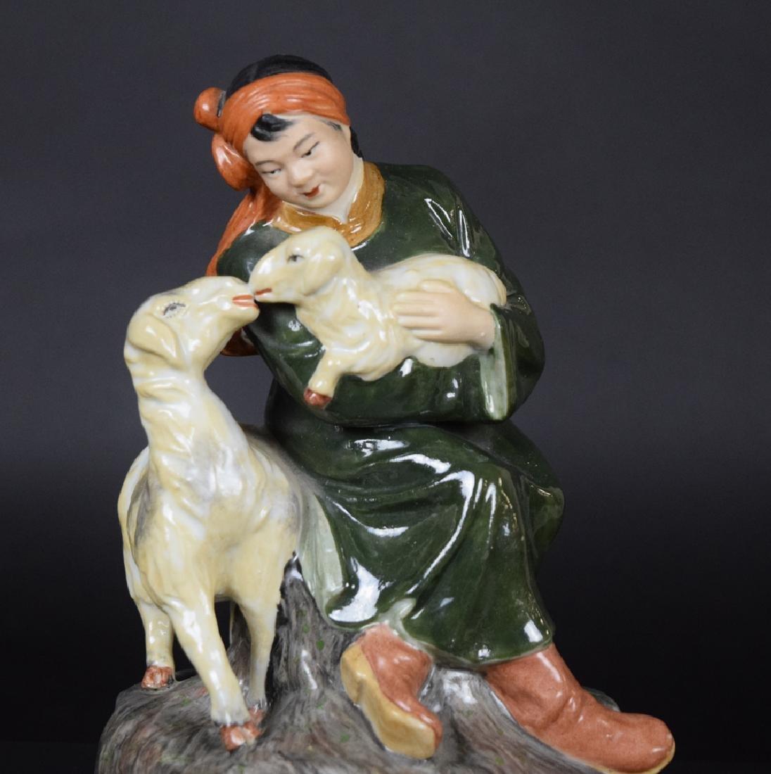 Chinese cultural revolution porcelain figure - 2