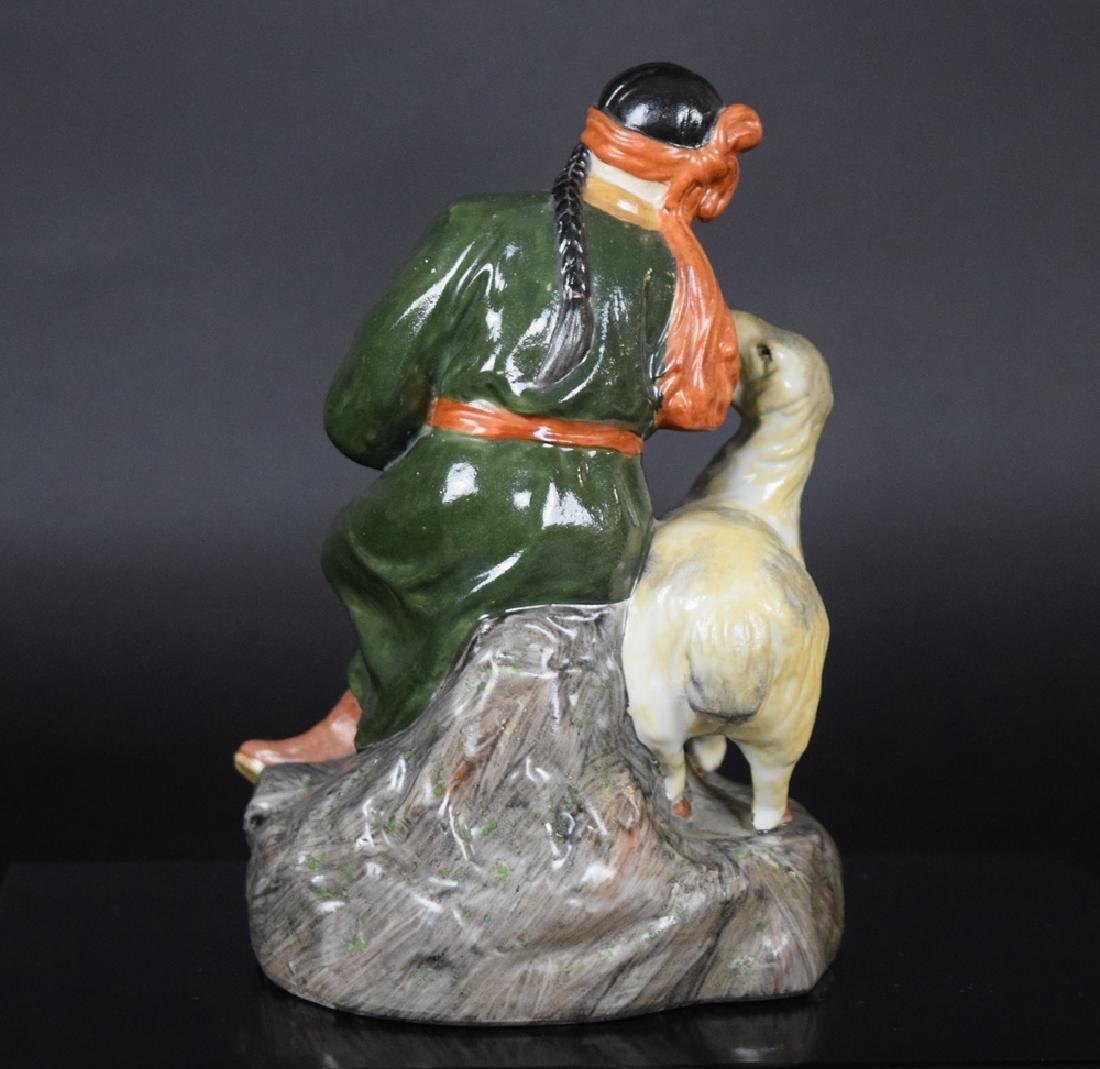 Chinese cultural revolution porcelain figure - 5