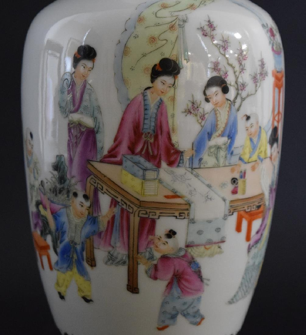 Chinese Republic famille rose porcelain vase - 2