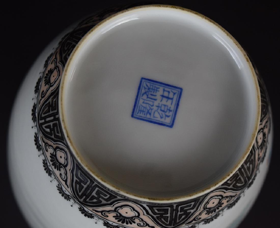 Chinese Republic famille rose porcelain vase - 7