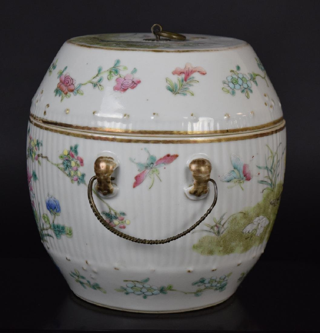 Two Chinese Qing famille rose porcelain pieces - 2