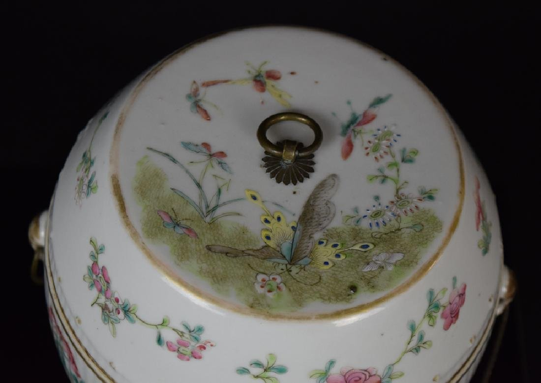 Two Chinese Qing famille rose porcelain pieces - 3