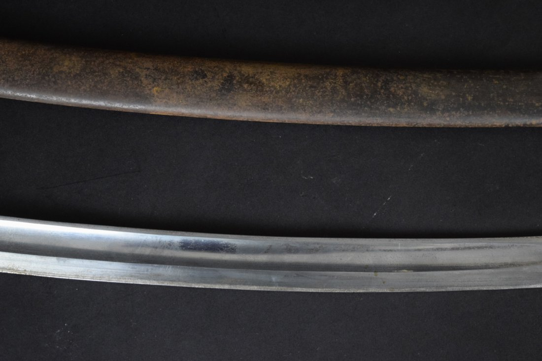 German 1870-1880s Lion Head Artillery Officer Sword - 4
