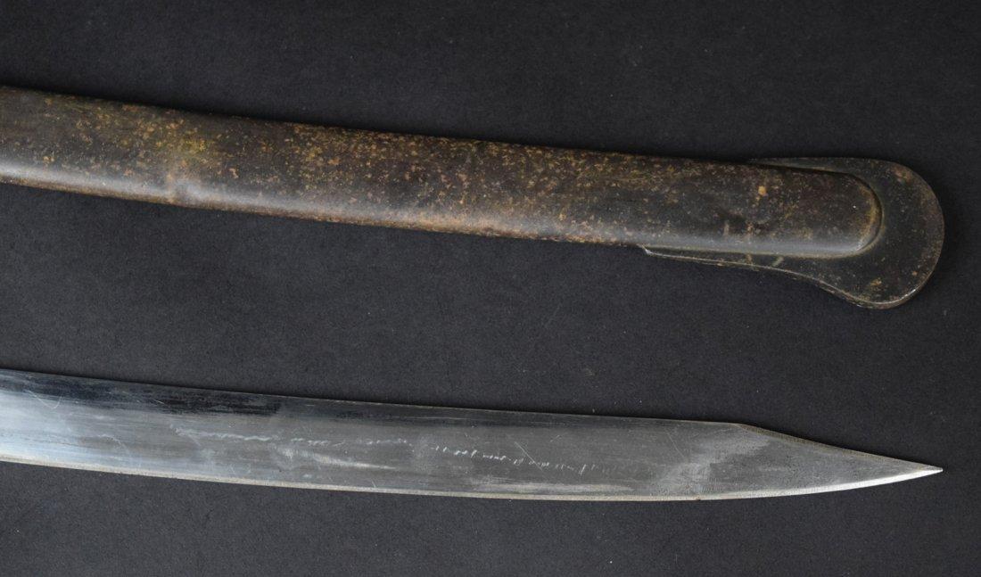 German 1870-1880s Lion Head Artillery Officer Sword - 5