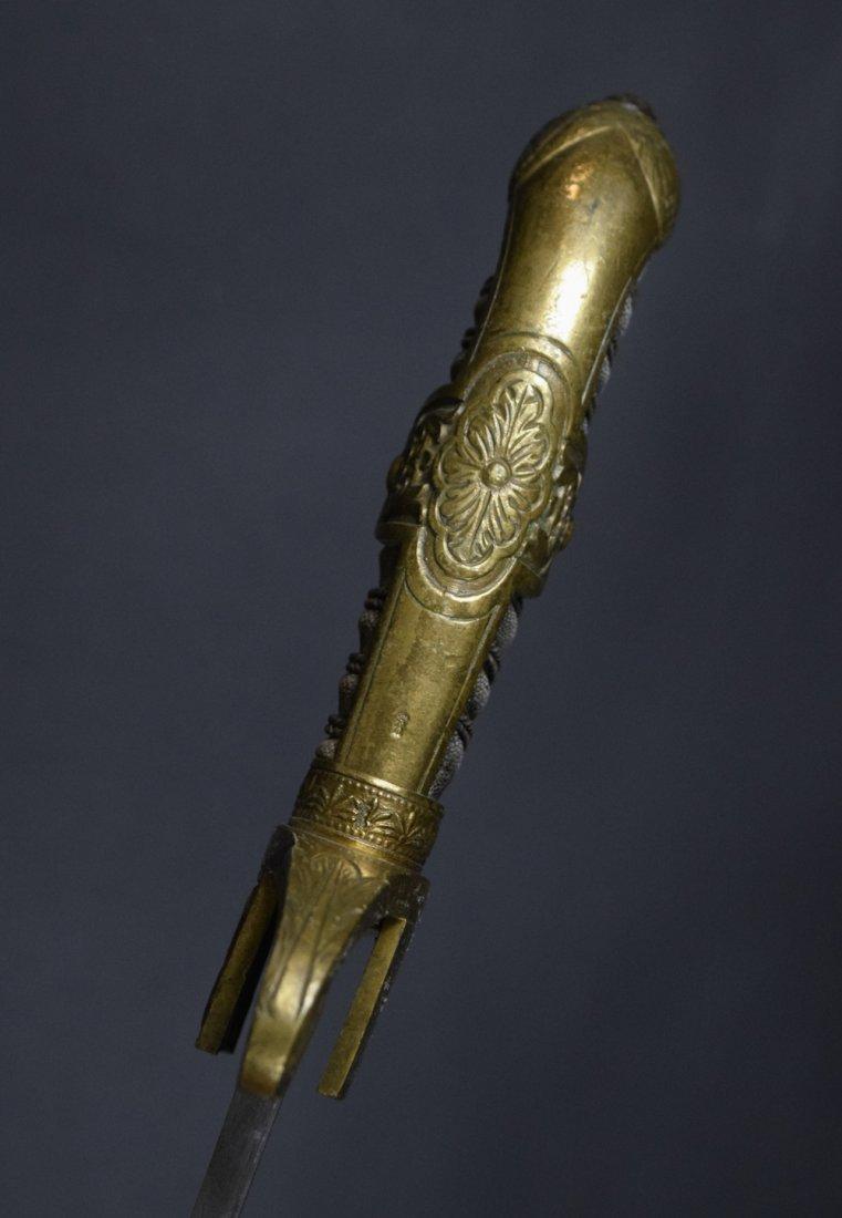 German 1870-1880s Lion Head Artillery Officer Sword - 7