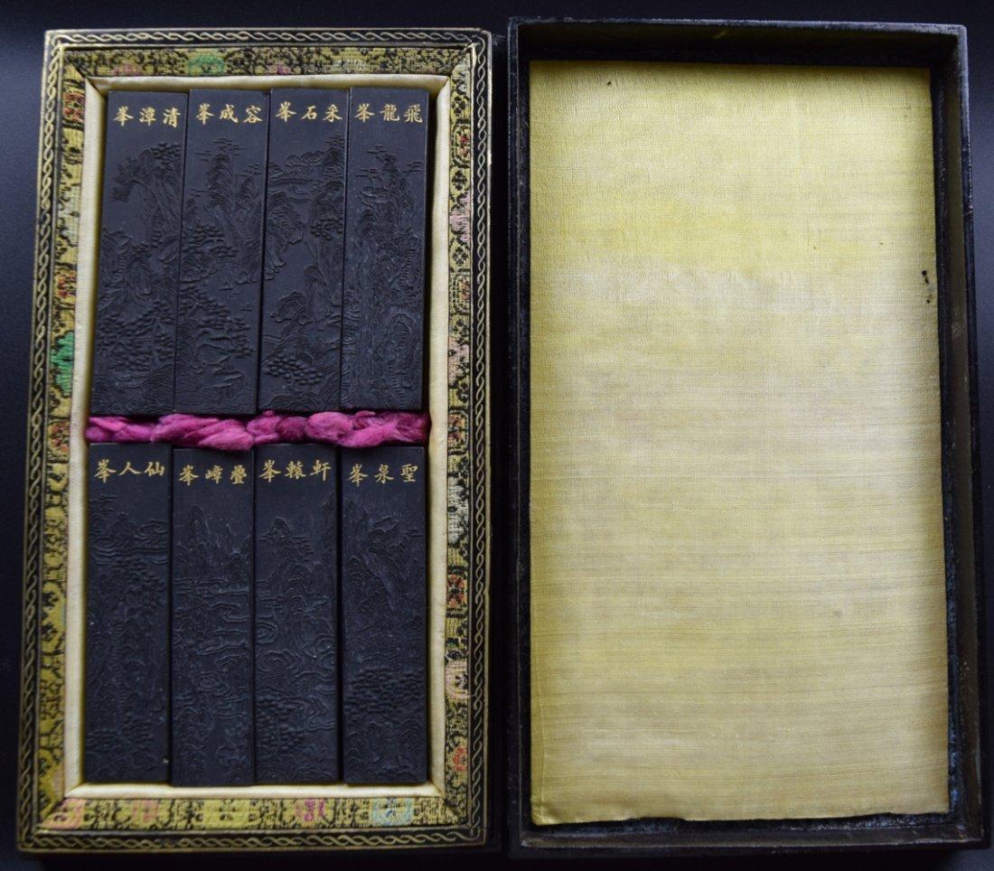 Set of 8 Chinese Qing ink sticks