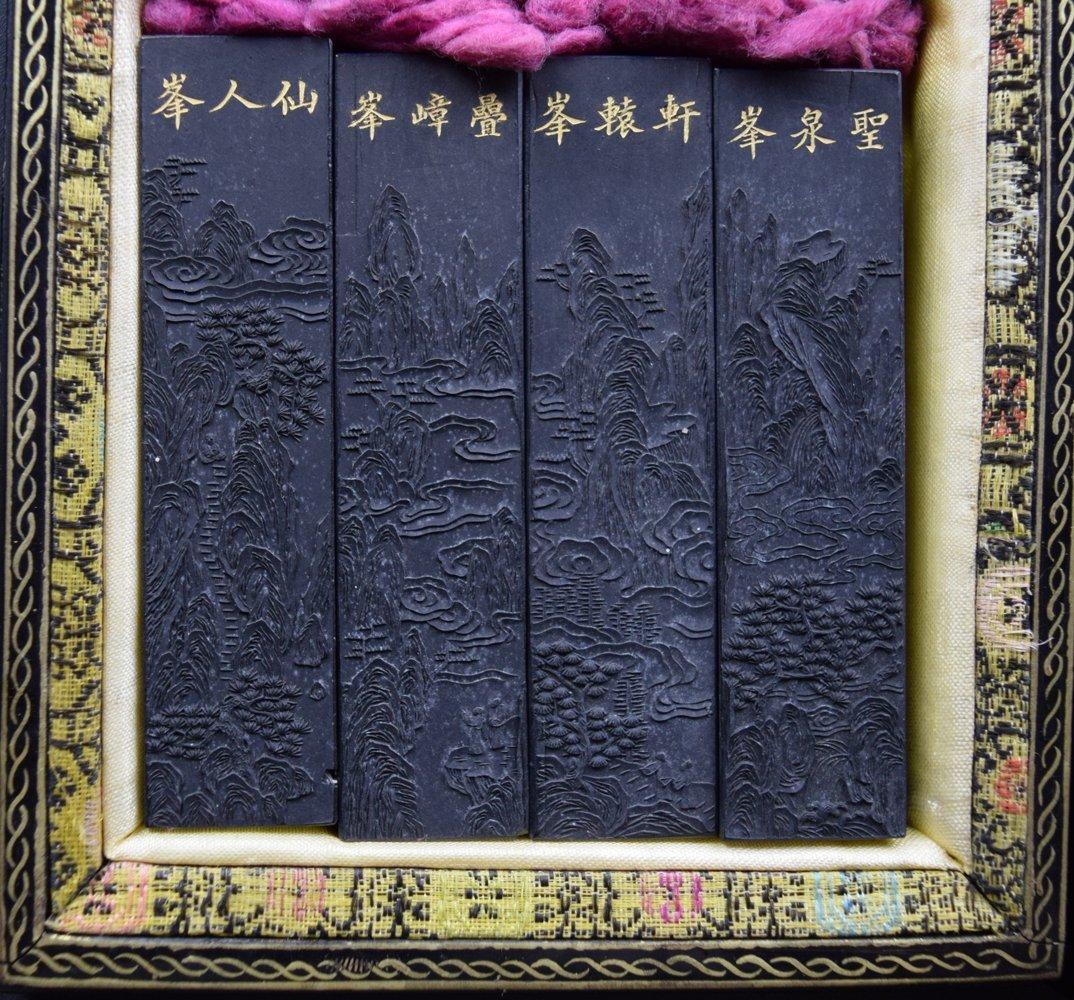 Set of 8 Chinese Qing ink sticks - 2