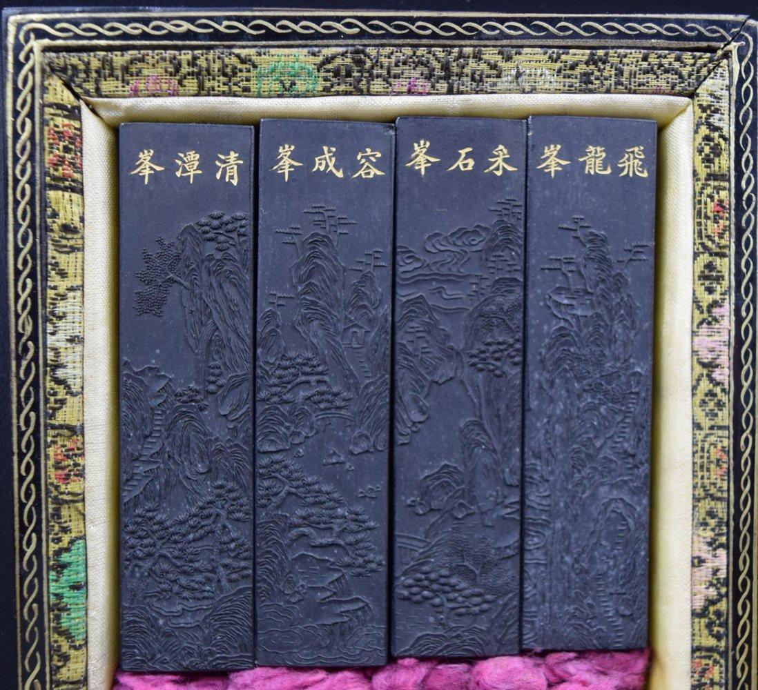Set of 8 Chinese Qing ink sticks - 3