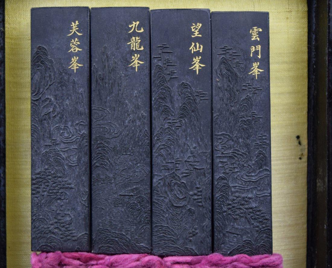 Set of 8 Chinese Qing ink sticks - 5