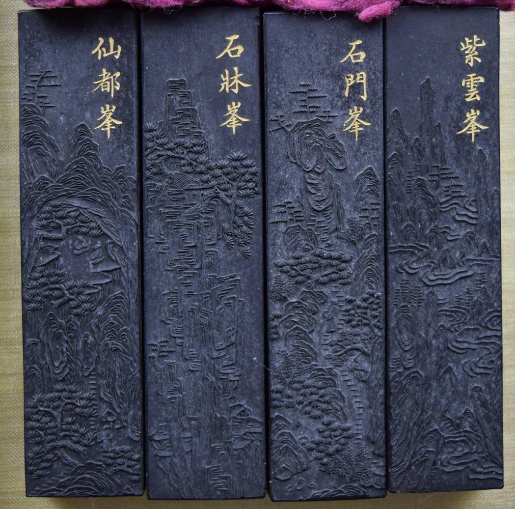 Set of 8 Chinese Qing ink sticks - 6