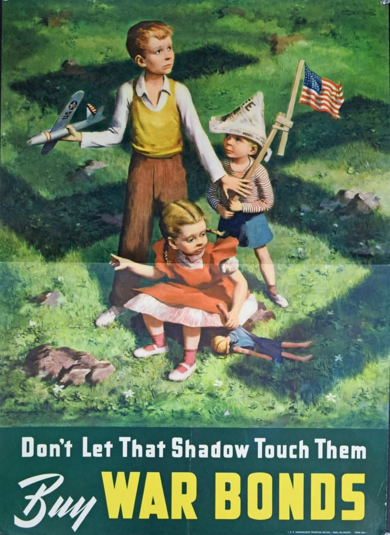 WWII War Bonds Poster Don't Let That Shadow Touch
