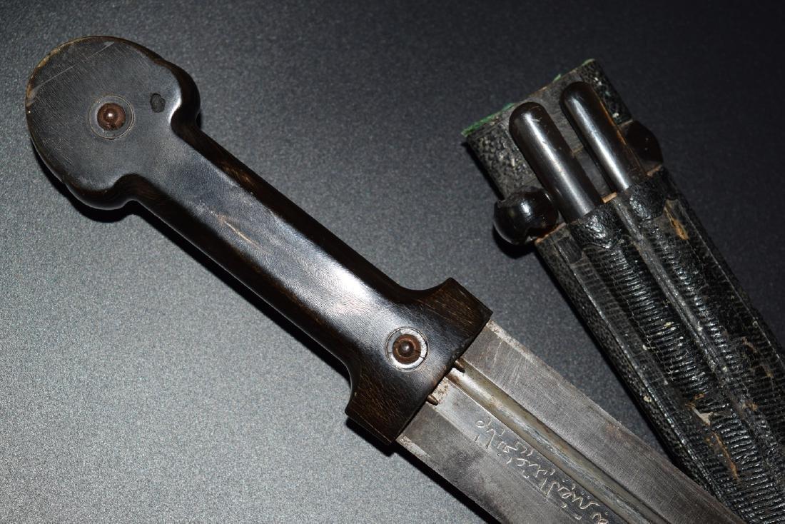 Rare 19th Century Russian Chechen Kindjal Dagger - 10