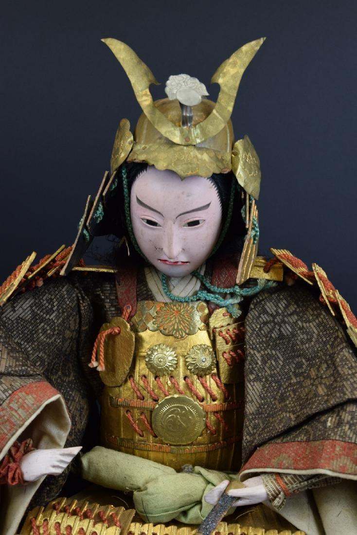 Large Antique Japanese Samurai Warrior Doll - 2