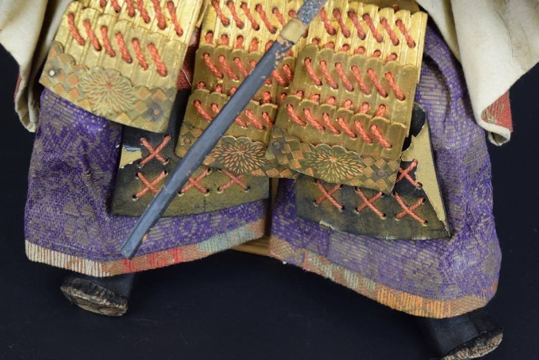 Large Antique Japanese Samurai Warrior Doll - 3