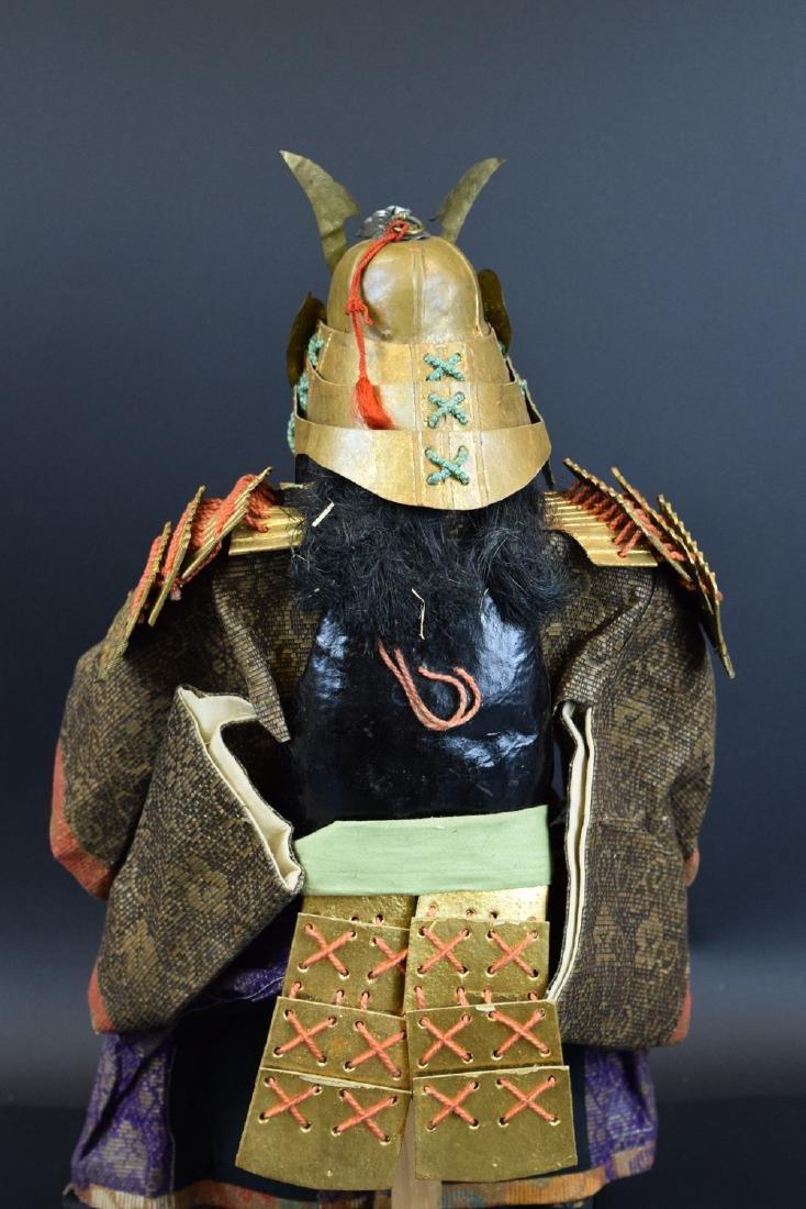 Large Antique Japanese Samurai Warrior Doll - 5