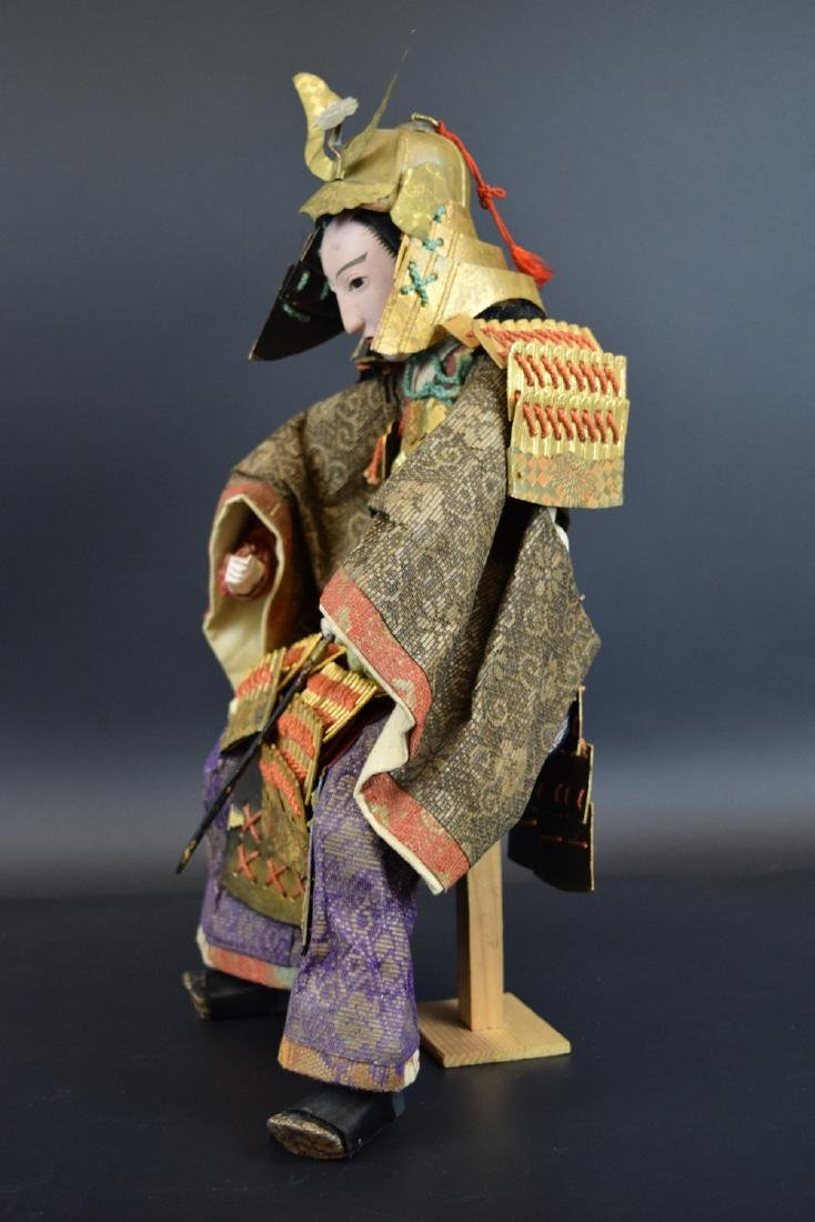 Large Antique Japanese Samurai Warrior Doll - 6