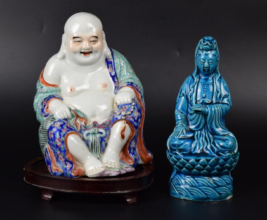 Two Chinese Republic Porcelain Figures