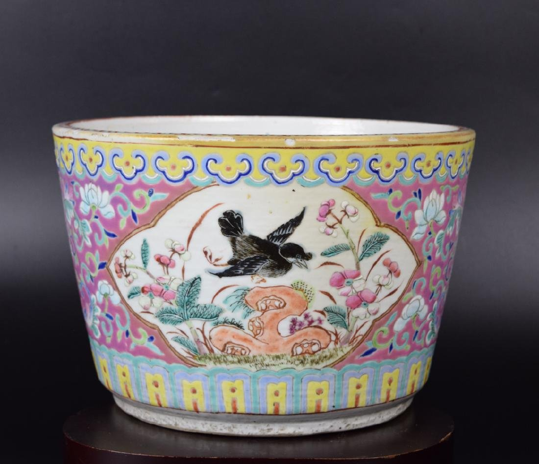 Chinese Republic Wucai porcelain fishbowl