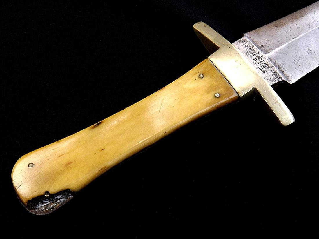 "Circa 1830s-1840s English Bowie Knife Dagger by ""Jas. - 2"