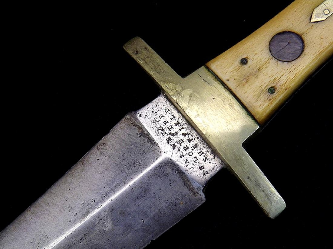 "Circa 1830s-1840s English Bowie Knife Dagger by ""Jas. - 3"