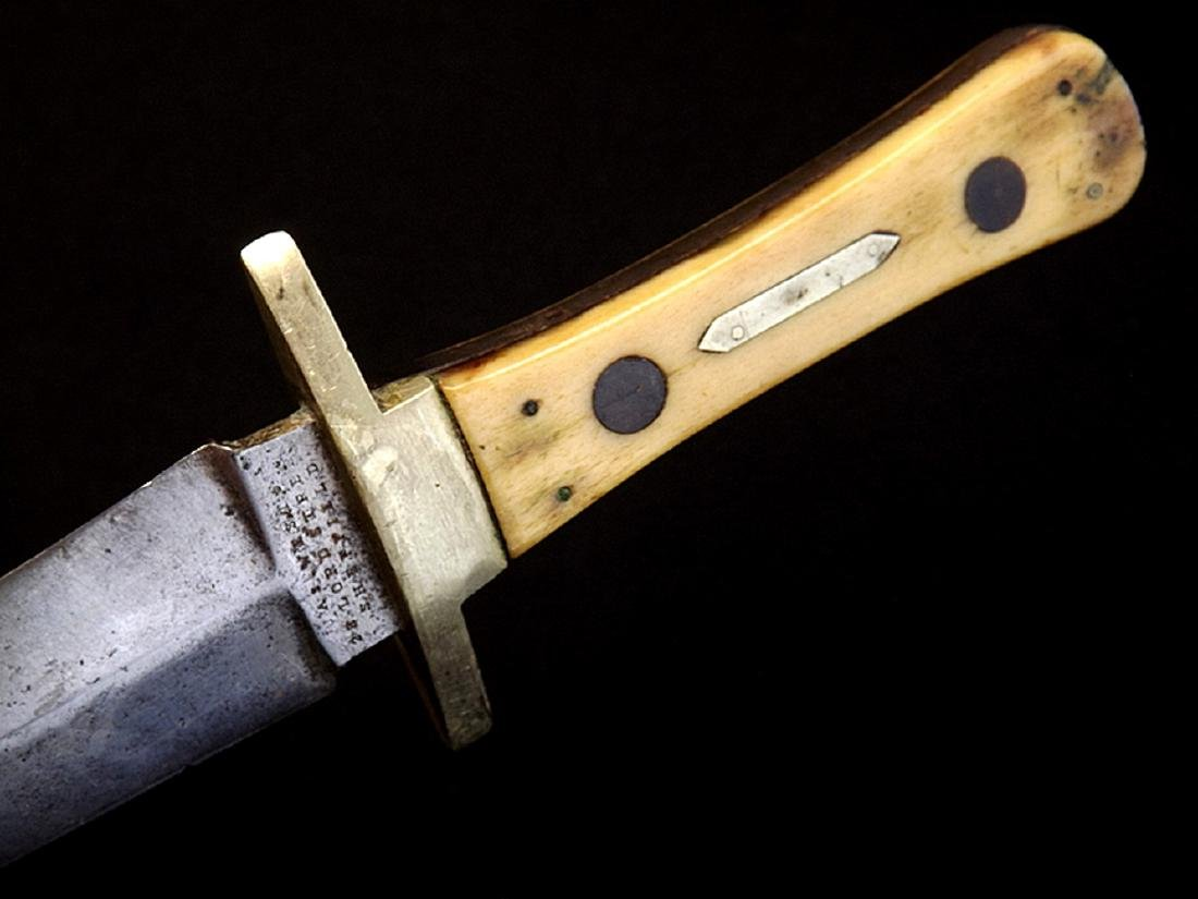 "Circa 1830s-1840s English Bowie Knife Dagger by ""Jas. - 5"