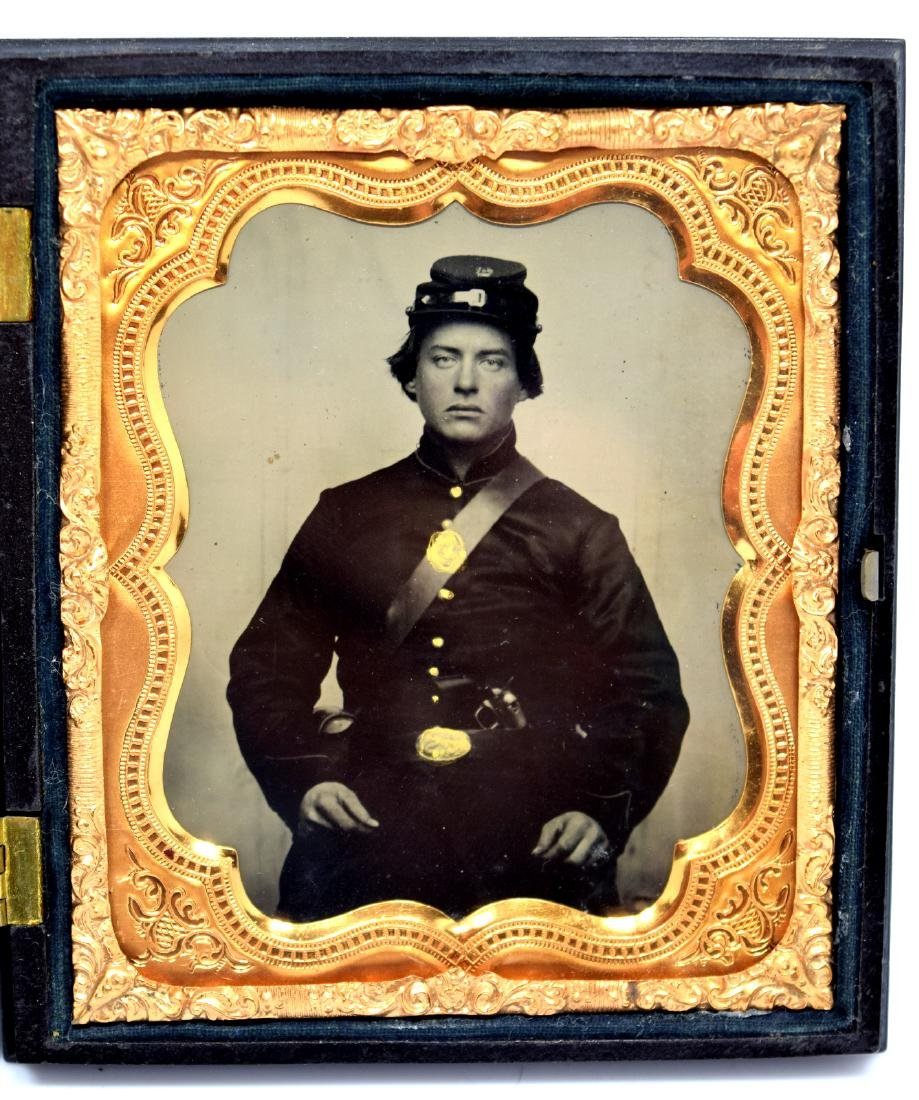 1/6 plate Crystal Clear Tintype Image of a Civil War