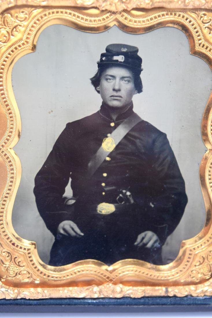 1/6 plate Crystal Clear Tintype Image of a Civil War - 3