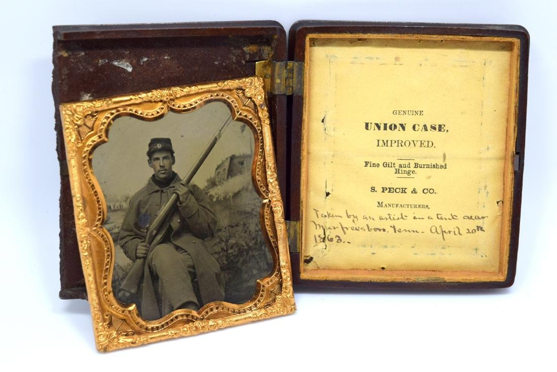 1/6 plate Tintype Image of Yong Civil War Soldier of - 6