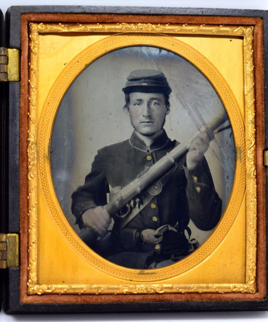 1/6 plate Tintype Image of ID'ed Civil War Soldier