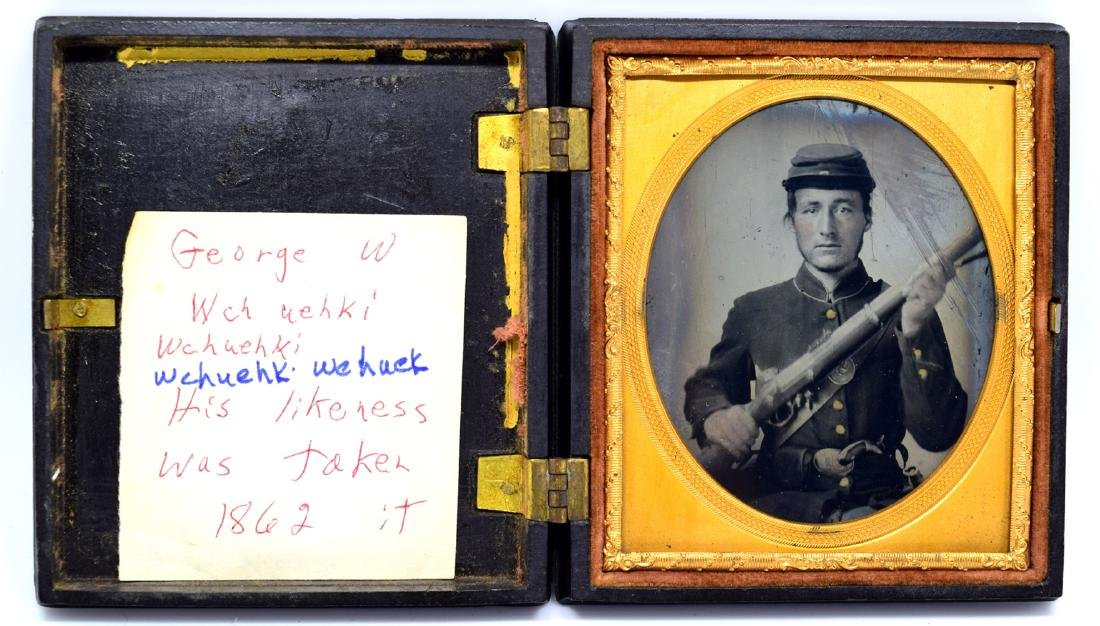 1/6 plate Tintype Image of ID'ed Civil War Soldier - 2