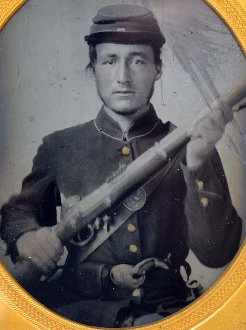 1/6 plate Tintype Image of ID'ed Civil War Soldier - 3
