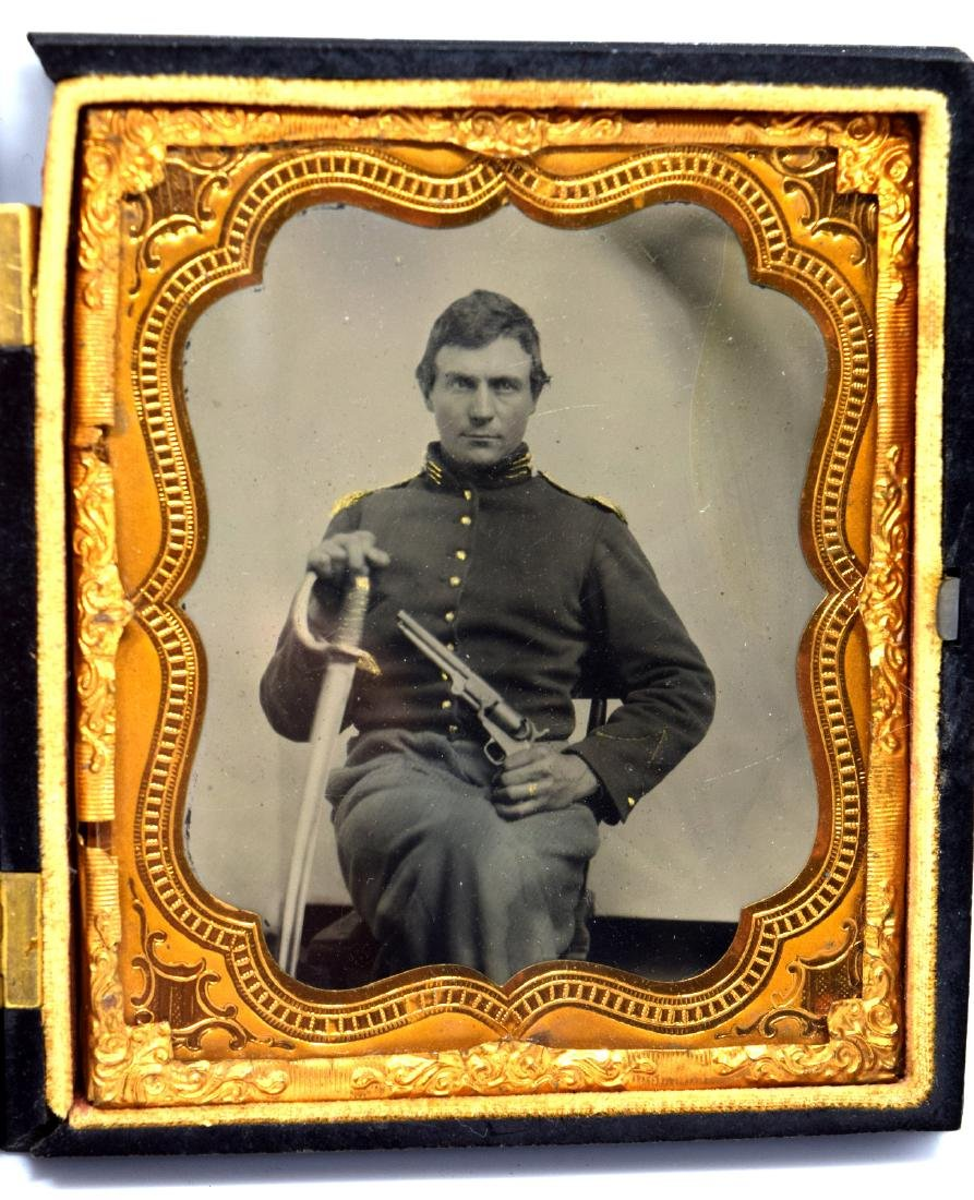 1/6 plate Crystal Clear Tintype Image of Civil War
