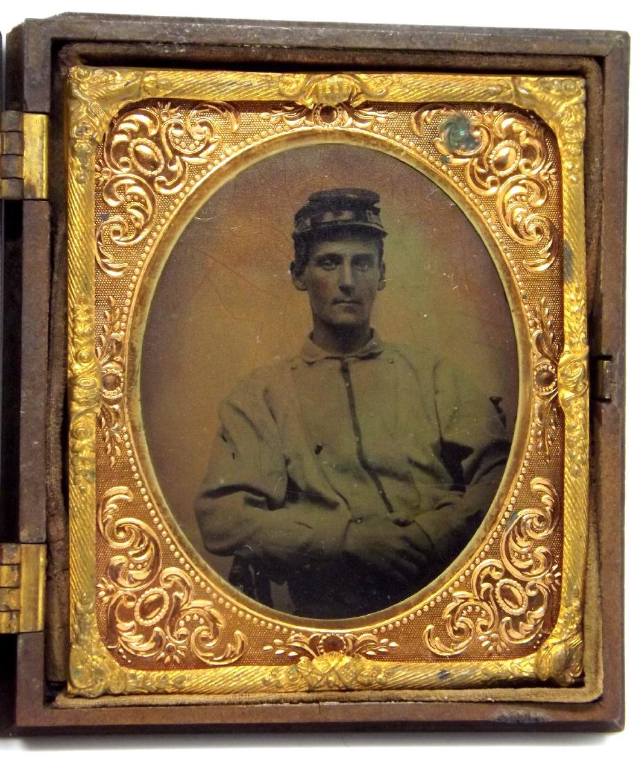 1/6 plate Tintype Image of a Confederate Civil War