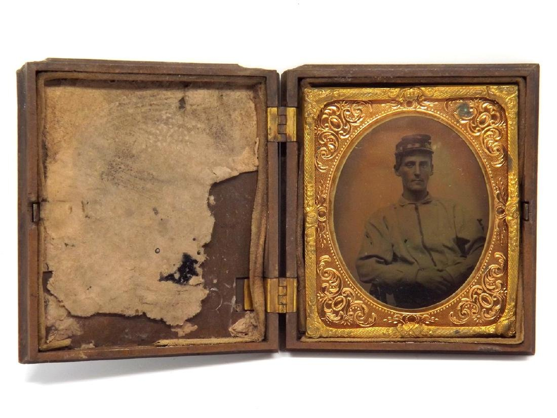 1/6 plate Tintype Image of a Confederate Civil War - 2