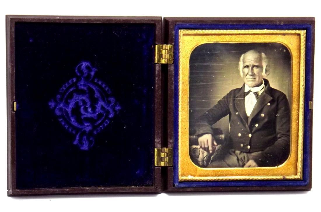 Rare 1/6 plate Daguerreotype Image of Civil War Navy - 2