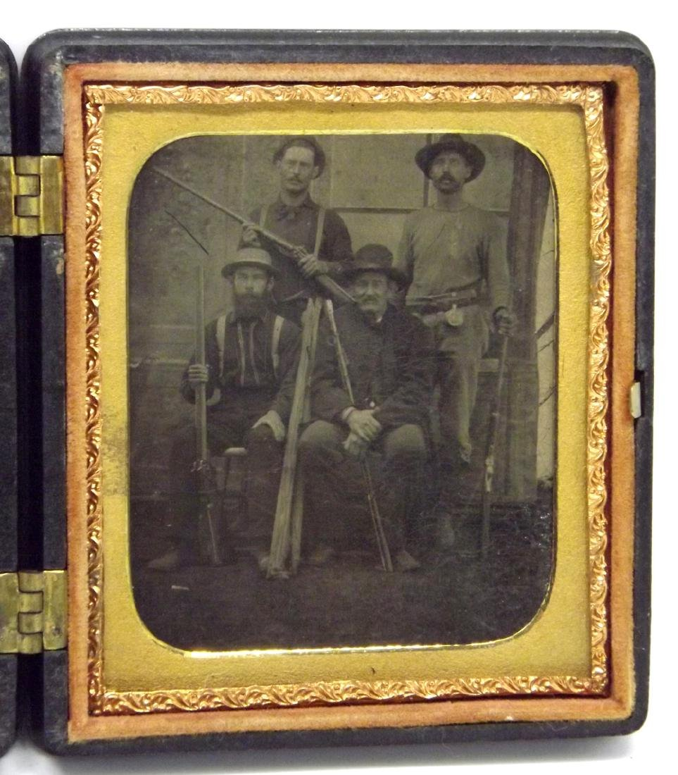 Rare 1/6 plate Tintype Image of Southern Gang, probably