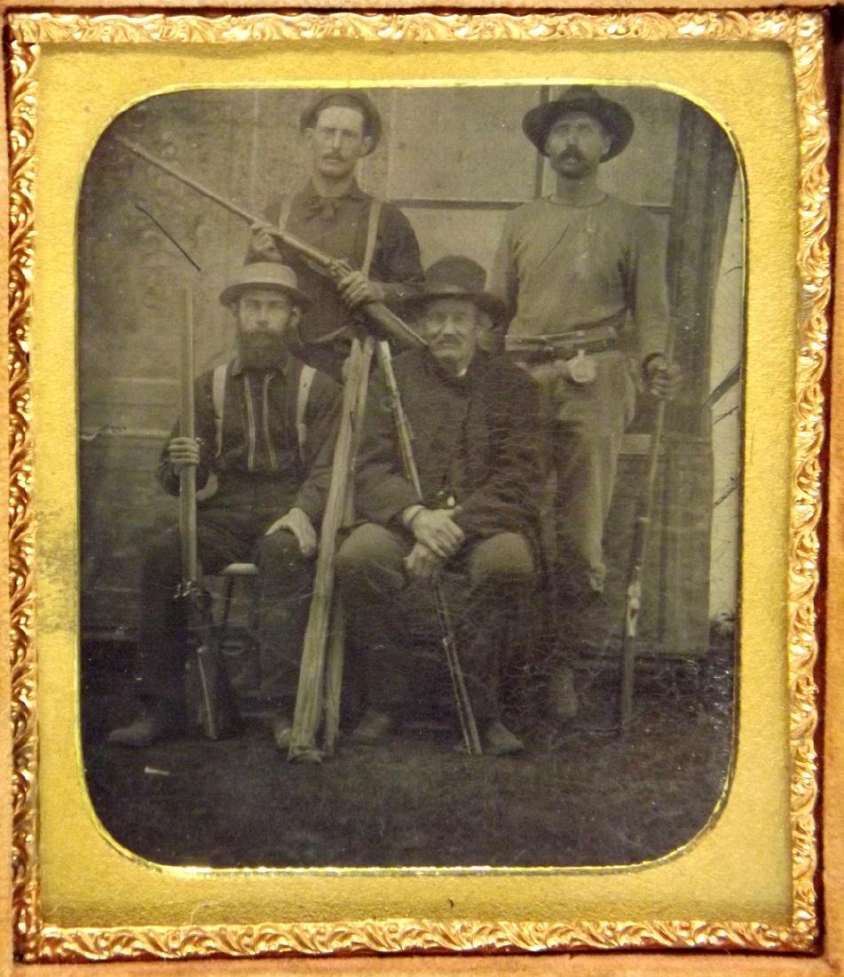 Rare 1/6 plate Tintype Image of Southern Gang, probably - 3