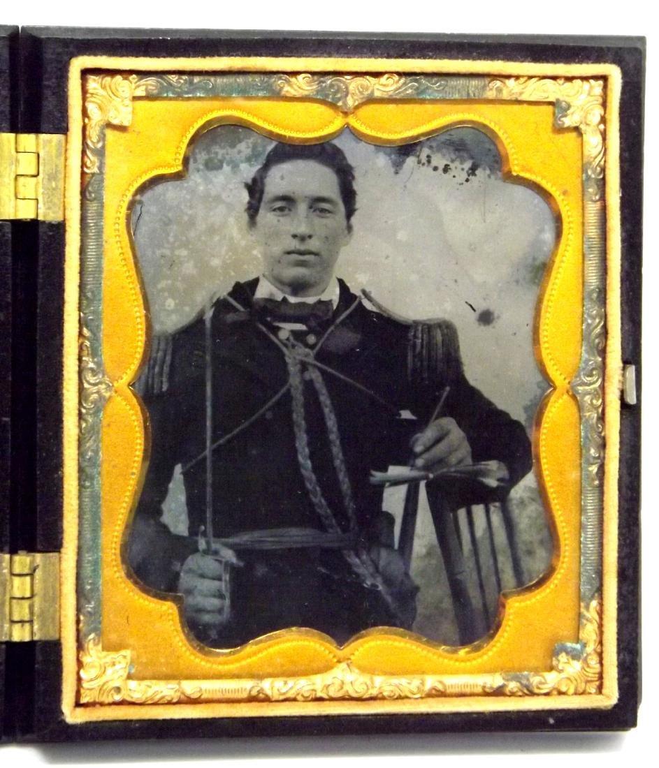 Rare 1/6 plate Tintype/Ambrotype Image of Civil War