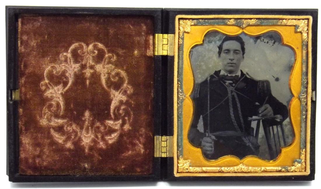 Rare 1/6 plate Tintype/Ambrotype Image of Civil War - 2