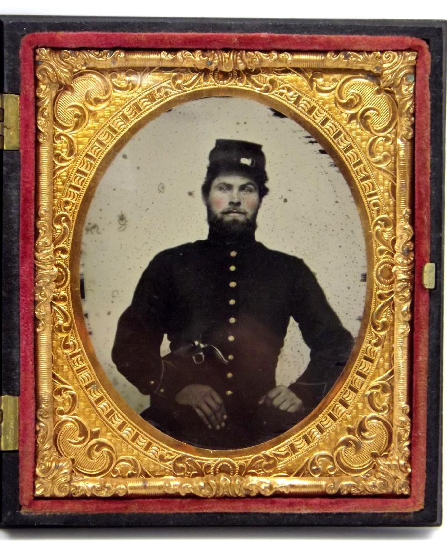 1/6 plate Ruby Ambrotype Image of ID'ed Civil War