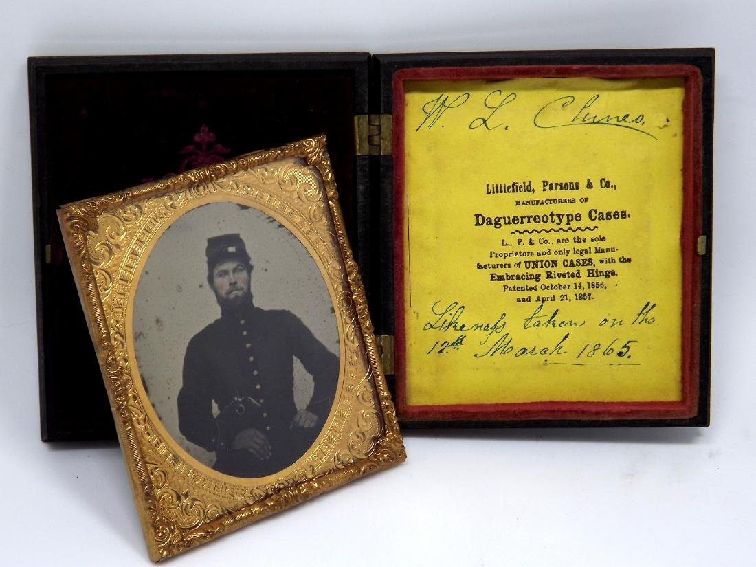 1/6 plate Ruby Ambrotype Image of ID'ed Civil War - 3