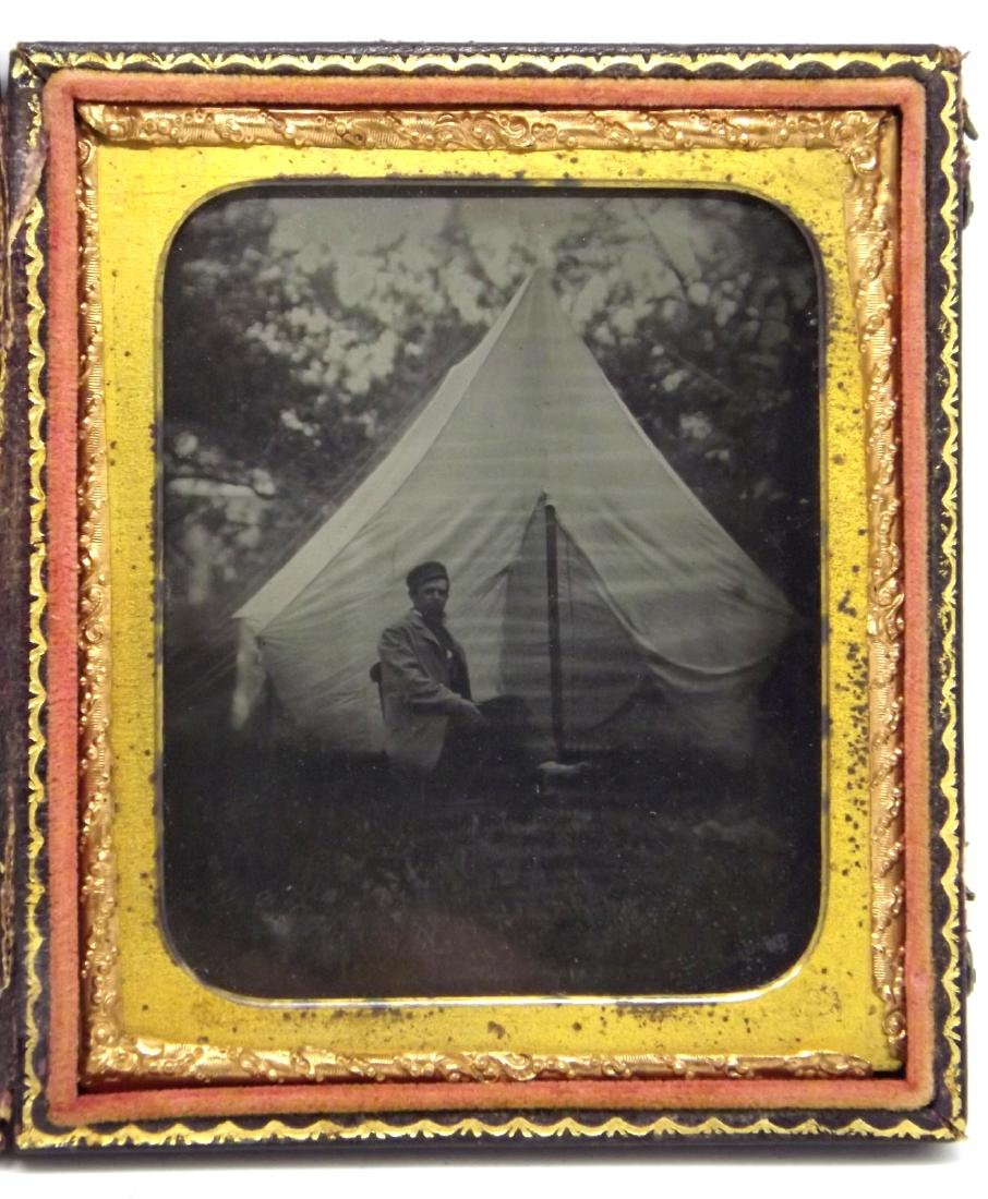 Rare 1/6 plate Ruby Ambrotype Image of Civil War