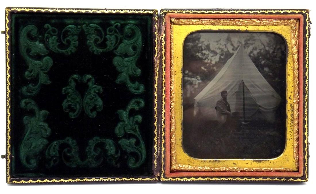 Rare 1/6 plate Ruby Ambrotype Image of Civil War - 2