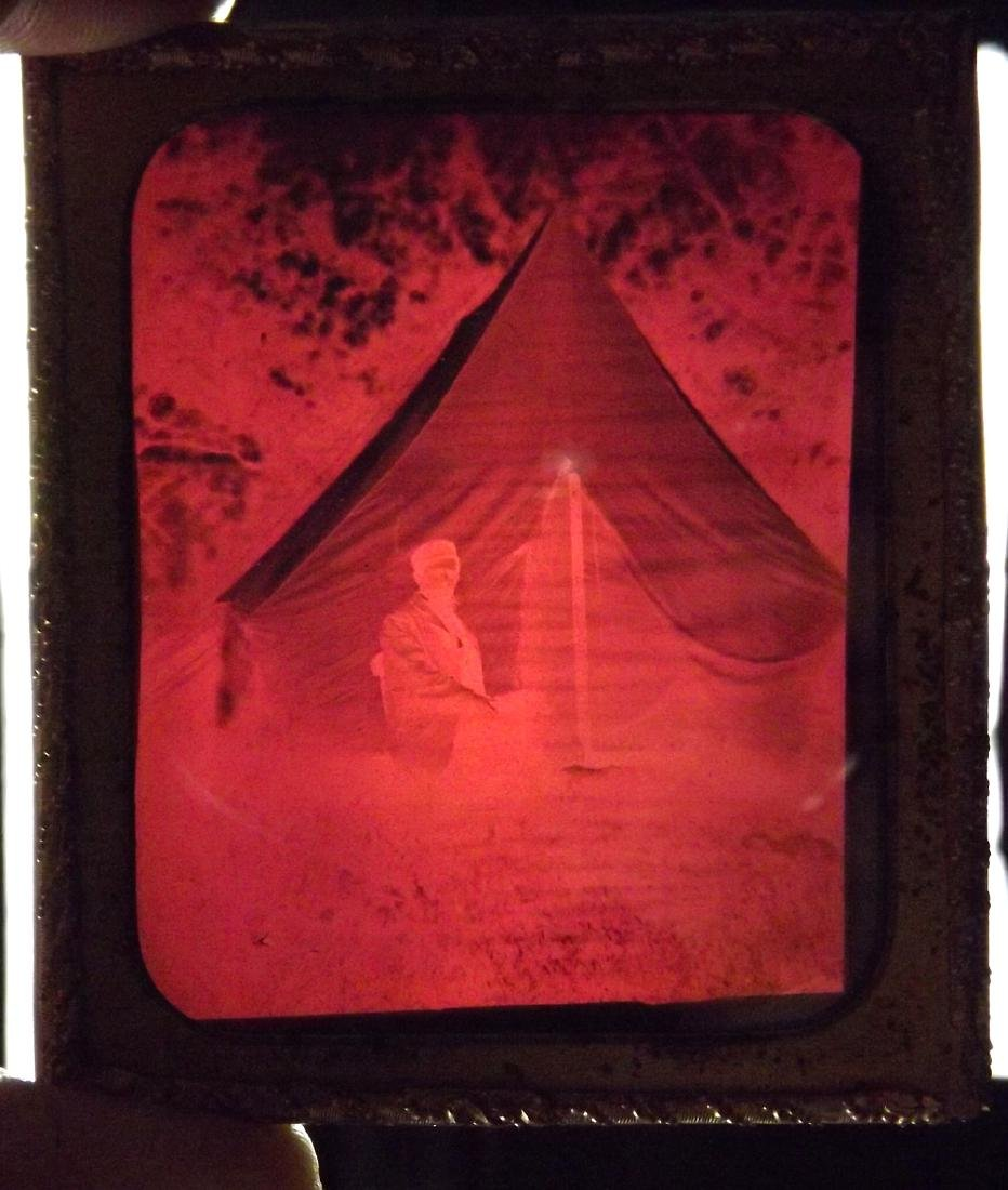 Rare 1/6 plate Ruby Ambrotype Image of Civil War - 4